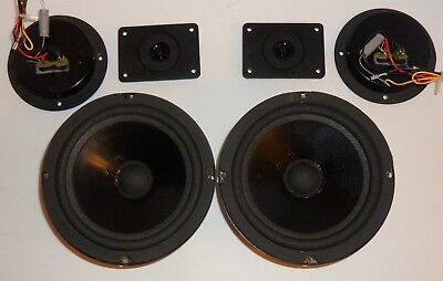 Vintage Genesis~Orevox Woofers/Tweeters/Crossovers/Emblems! Tested & Working!