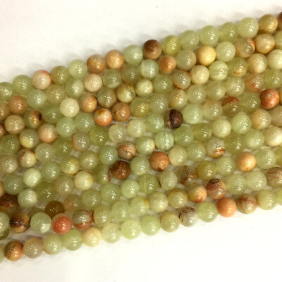 Wholesale Natural Genuine Green Lace Jade Round Loose Jewelry Stone Beads 6-12mm