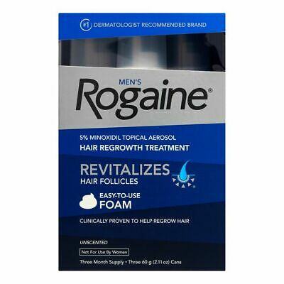 Rogaine Men's 5% MINOXIDIL Topical Hair Regrowth Treatment Solution EXP 2020
