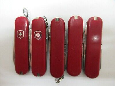 Lot of 5 Victorinox Classic SD Swiss Army Knives