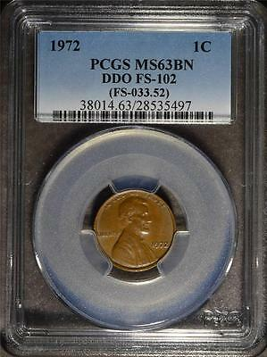 1972 PCGS MS63 BN Lincoln Cent DDO Error Doubled Die Rare Penny SHIPS FREE 497