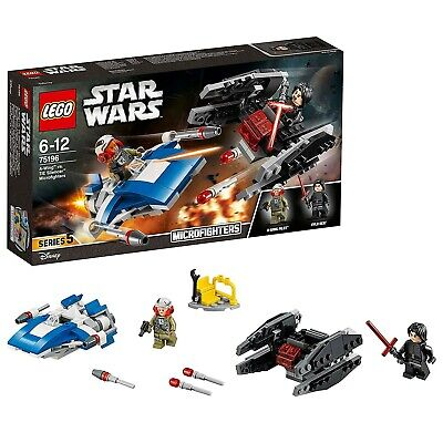 LEGO Star Wars - A-Wing Contro Microfighter Tie Silencer, 75196