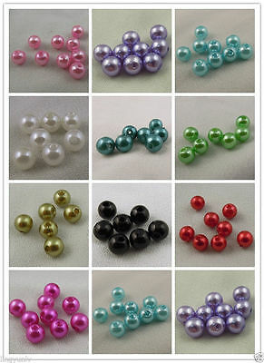 6mm Imitation Pearls Many Colors ABS Plastic Round Craft Beads 950 pcs Pack