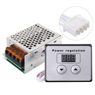 220V 4000W AC SCR Voltage Regulator Dimmer Electric Motor Speed Controller UK