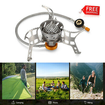 Outdoor Portable Folding Windproof Split Stove Camping Picnic Gas Burner Steel