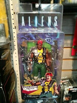 "Aliens Series 13 SPACE MARINE APONE 7"" Scale Action Figure NECA Kenner Tribute"
