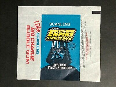 Scanlens Star Wars The Empire Strikes Back Wax Wrapper For Stickers