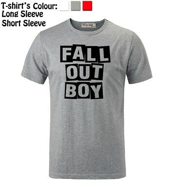 Fall Out Boy FOB Adult Graphic T-Shirt This Is Our Culture Tour White Black Trim