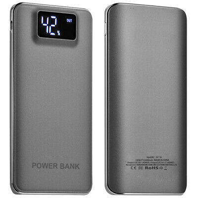 AU Portable Slim 50000mAh LCD Power Bank 2USB LED Battery Charger For Cell Phone