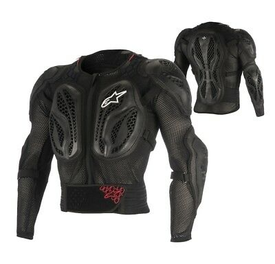 Alpinestars Bionic Action MX Enduro Motocross Jacket Protektion schwarz rot