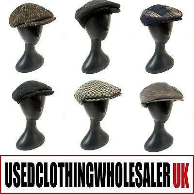 100 Men's Vintage Flat Caps Tweed Herringbone Peaky Blinders Wholesale Joblot