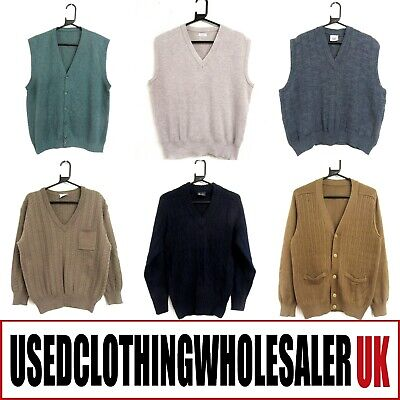 20 Men's Vintage Plain Jumpers Sweaters Knitwear Wholesale Clothing Joblot