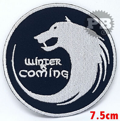 WINTER IS COMING GAME OF THRONES HOUSE STARK WOLF iron/sew/PATCH