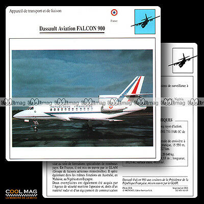 #093.05 DASSAULT AVIATION FALCON 900 - Fiche Avion Airplane Card
