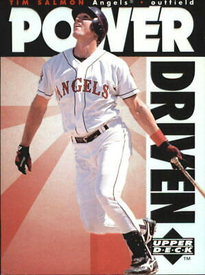 1996 Upper Deck Power Driven #PD14 Tim Salmon - NM-MT