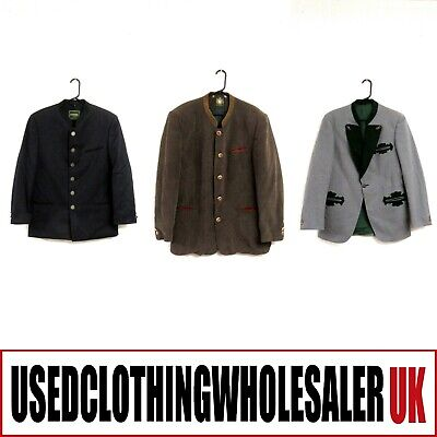 10 Men's Bavarian Jackets Blazers Trachten Oktoberfest Wholesale Clothing Joblot