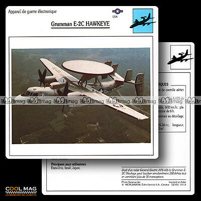 #010.13 GRUMMAN E 2C HAWKEYE - Fiche Avion Airplane Card