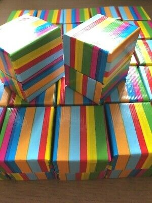 Wholesale Joblot 20 Rainbow Stripe Card Ring Boxes, Jewellery Boxes,  Ring