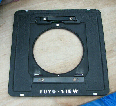 genuine original Toyo monorail to Linhof style panel 5x4  lens board  adapter