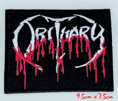 Obituary Blood Drip Logo Death Metal Iron On Sew On Badge Patch