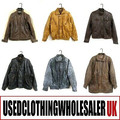 8 Men's Vintage Genuine Leather Coats Jackets Wholesale Clothing Joblot #1