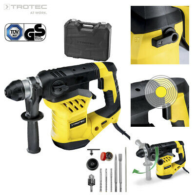 TROTEC Rotary Hammer Drill Impact PRDS 11-230V | Chisel | Driver SDS Plus 1600 W