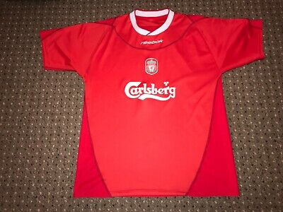 "e785468f934 Men s Reebok Carlsberg 2002 2004 Liverpool LFC home football shirt L 42""-44"