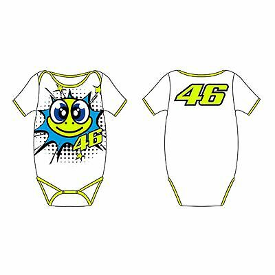 VR46 Official Valentino Rossi 46 Cotton Baby Body Pop Art White - Unisex