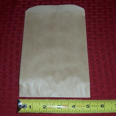 """(100) Small Brown Kraft Paper Bag 5"""" x 7.5"""" / Gift / Candy / Jewelry / Grab Bags"""