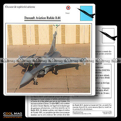 #119.01 DASSAULT AVIATION RAFALE B 01 - Fiche Avion Airplane Card