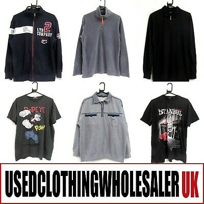 35 Men's Mixed Tops T-Shirts Sweaters Fleece Wholesale Clothing Joblot