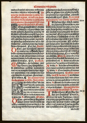 Missal Leaf Lot Five (5) Leaves Mass for Sts Peter & Paul Prayers & Benedictions