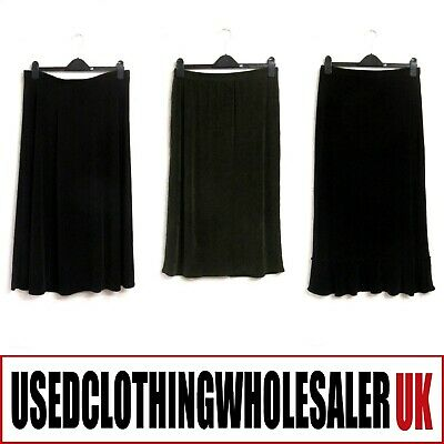 40 Women's Skirts Long Midi Casual Plain Used Wholesale Clothing Fashion Joblot