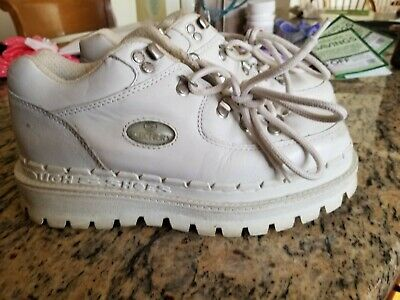 9438e5abf0b7 Vintage 90s Skechers 7.5 white PLATFORM Hiking Boots Jammers Sketchers  UK-5.5