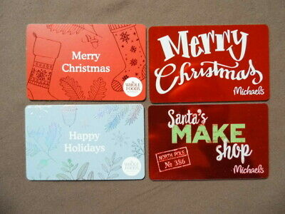 4 GIFT CARDS ( to collect no value ) USA  CHRISTMAS