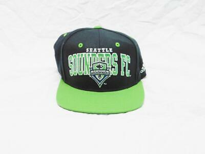 58eaf9f07e1 Seattle Sounders FC Hat Black Green Adidas Soccer Football Snapback Cap  Stitched