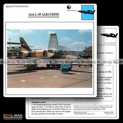 #044.03 AERO L 39 ALBATROSS - Fiche Avion Airplane Card