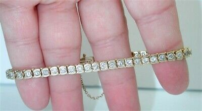 $7,000~DIAMOND ESTATE 4.75CTW TENNIS BRACELET~AMAZING SPARKLE! EaStEr DeAl! $99