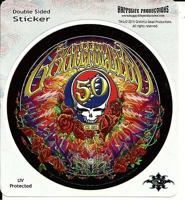 50 Years Grateful Dead Sticker Decal Bumpersticker Steal Your Face Anniversary