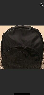 a305cba52b NEW Versace Parfums BackPack Medusa Head Hand dust Bag faux patent leather  Black