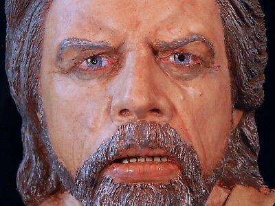 Star Wars Mark Hamill bust made from life mask Force Awakens Last Jedi Luke col.