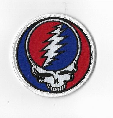 Grateful Dead Embroidered Patch Steal Your Face 3 Inches Round