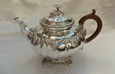 Truly Magnificent Christofle Silver 'fused' Plate Tea Pot ~ Rare Cats Head Mark