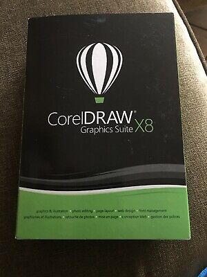 CorelDRAW Graphics Suite X8 - Full Commercial Version New Retail Box