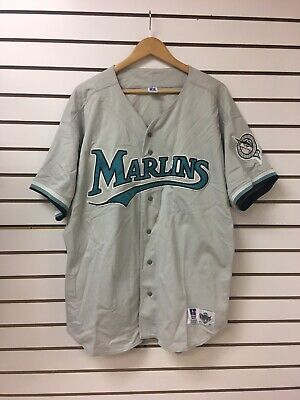 fe78f136b Vintage Florida Marlins Baseball Jersey Sz 52 Diamond Collection Russell  Athleti