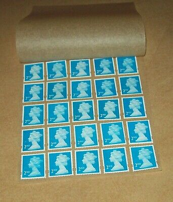 25 Unfranked 2nd Class Stamps Off Paper Remounted On Greaseproof - 9