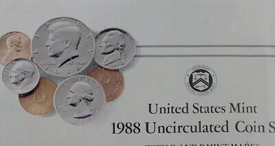 United States Mint 1988 Uncirculated Coin Set w/ D & P Mint Marks
