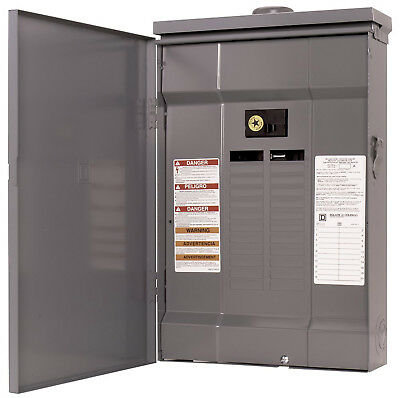 Square D QO124M125RB Load Center 120/240V 24 spaces 125A Main Breaker included