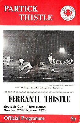 PARTICK THISTLE v Ferranti Thistle, 27th January 1974, Scottish Cup 3rd round
