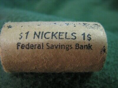 Federal Savings Bank Half Roll of Buffalo Nickels (20)  1924 & Tail on Ends RARE